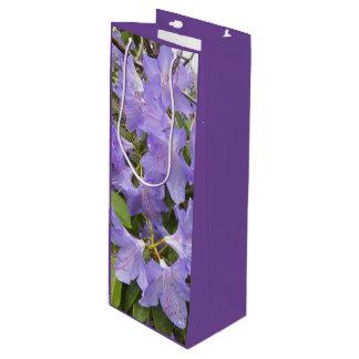 Sac Cadeau Pour Bouteille Rhododendrons pourpres floraux