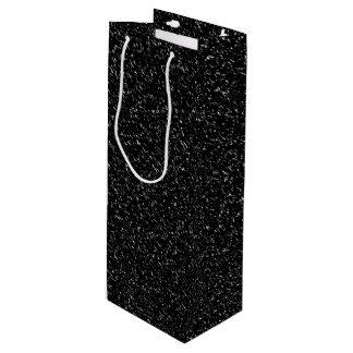 Sac Cadeau Pour Bouteille Style en pierre noir moderne - l'espace