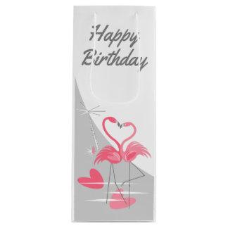 Sac Cadeau Pour Bouteille Vin de joyeux anniversaire de lune d'amour de