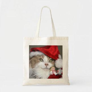 Sac Chat de Père Noël - chat de Noël - chatons mignons