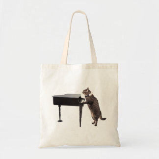 Sac Chat jouant le piano