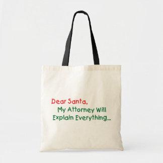 Sac Cher Père Noël ma mandataire expliquera - Noël