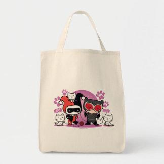 Sac Chibi Harley Quinn et Catwoman de Chibi avec des