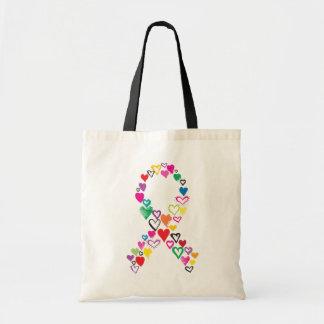 Sac Coeurs pour le Cancer Fourre-tout