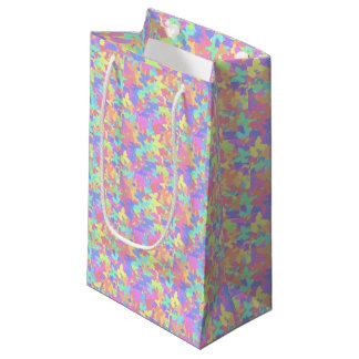 Sac coloré de cadeau de papillon - petit, brillant