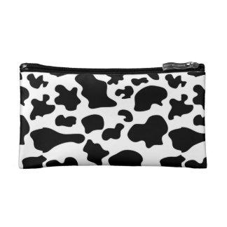 Sac cosmétique de motif de vache (petit)