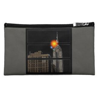Sac cosmétique imprimé par ciel d'éclipse de NYC
