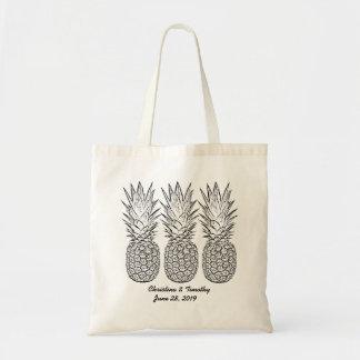 Sac d'accueil de mariage d'ananas, faveur de