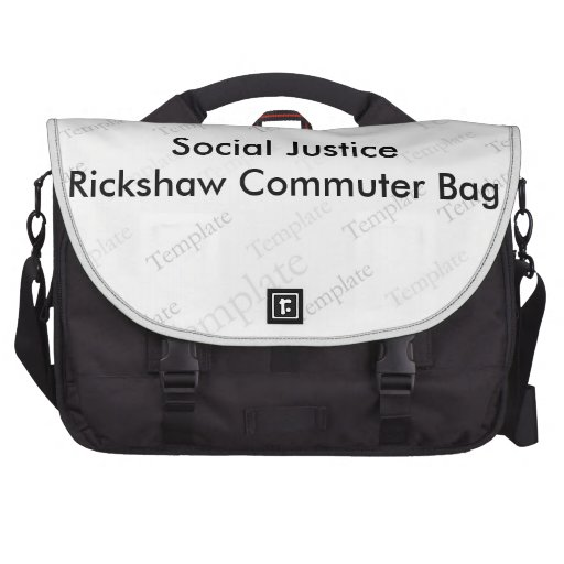 Sac de banlieusard de Rickshaw de justice sociale Sacs Pour Ordinateur Portable