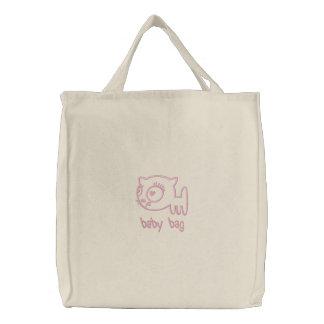 sac de bébé brodé parportier (rose-clair) sac brodé