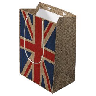 Sac de cadeau avec le drapeau du Royaume-Uni sur