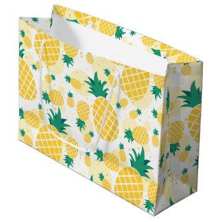 Sac de cadeau d'ananas - grand, brillant