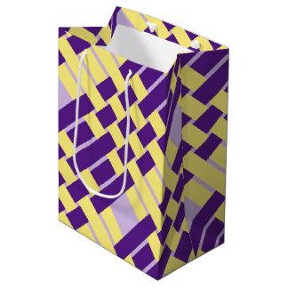 Sac de cadeau d'armure de pourpre et de jaune