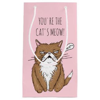 Sac de cadeau de dessin du Meow du chat drôle