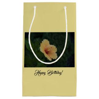 Sac de cadeau de fleur de jaune de joyeux