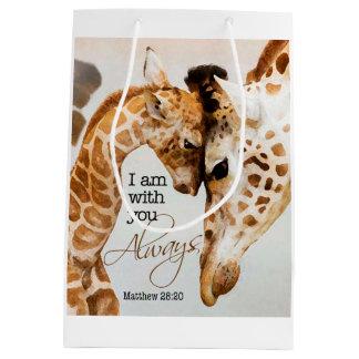 Sac de cadeau de girafe