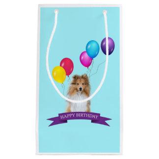 Sac de cadeau de joyeux anniversaire de chien de
