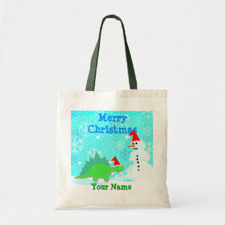 Sac de cadeau de Joyeux Noël de bonhomme de neige