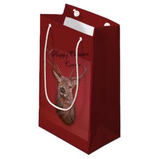 Sac de cadeau de mâle de cerfs communs rouges de