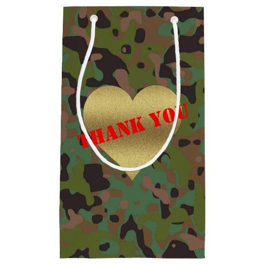Sac de cadeau de Merci de partie de camouflage de