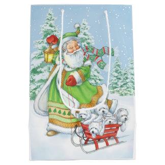 """Sac de cadeau de Noël de Westie """"bruit joyeux"""" par"""