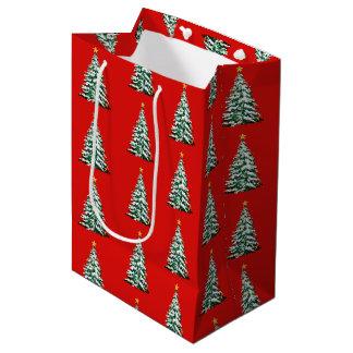 Sac de cadeau de papier de vacances de Noël