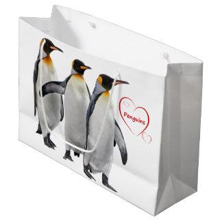 Sac de cadeau de pingouins d'amour (choisissez