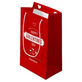 Sac de cadeau de symboles de Valentine de heureuse