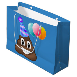 Sac de cadeau d'Emoji d'anniversaire de Pooper de