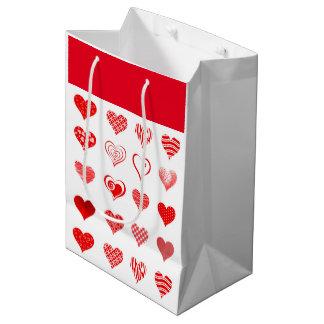 Sac de cadeau des coeurs de Valentine