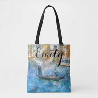Sac de coutume de Venise Italie d'aquarelle