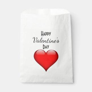 Sac de faveur de heureuse Sainte-Valentin Sachets En Papier
