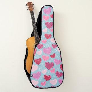 Sac de guitare acoustique de coeurs de Valentine