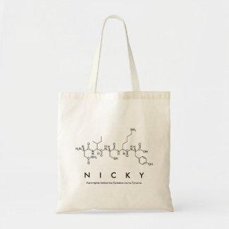 Sac de nom de peptide de Nicky