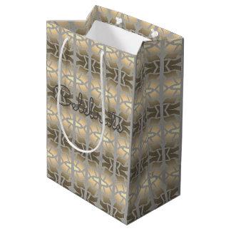 Sac de papier élégant moyen de cadeau
