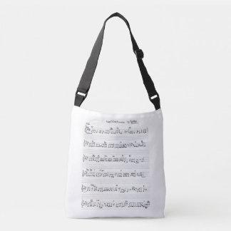 sac de piano de musique de feuille et de clés de