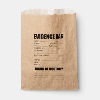 Sac de preuves de crime sachets en papier