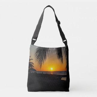 Sac de silhouette de coucher du soleil