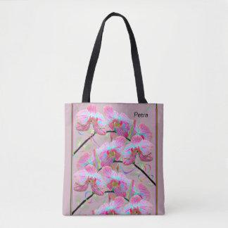 Sac de transport grand avec les orchidées