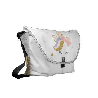 Sac d'école de licorne, sac messenger à besaces