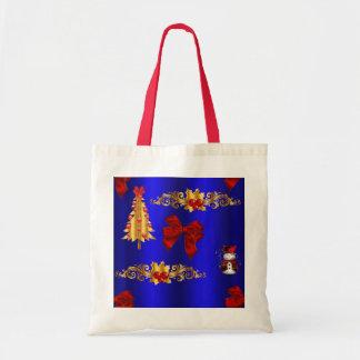 Sac Décorations de Noël sur le bleu