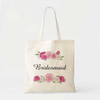 Sac Demoiselle d'honneur florale de rose fait sur