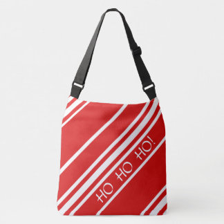 Sac d'épaule rayé rouge et blanc de Noël