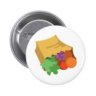 Sac d'épicerie badge rond 5 cm