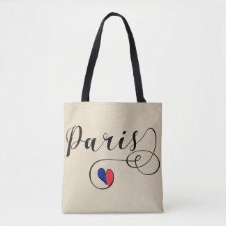 Sac d'épicerie de coeur de Paris, France