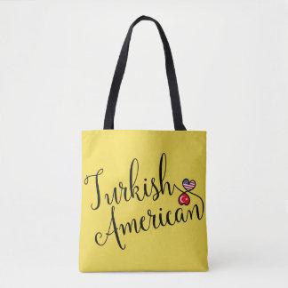 Sac d'épicerie enlacé par Américain turc de coeurs