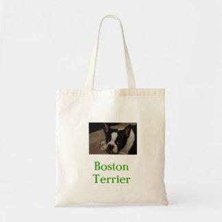 Sac d'épicerie organique de Boston Terrier