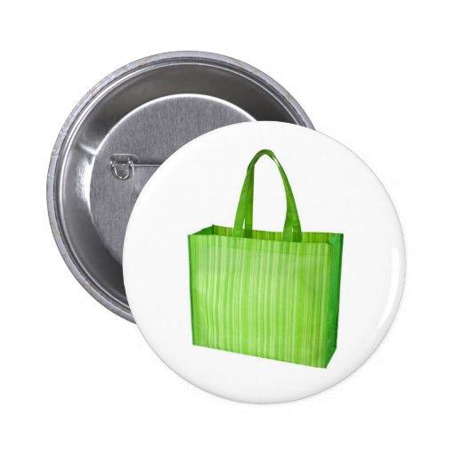 Sac d'épicerie réutilisable vert vide badges