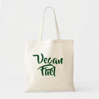 Sac d'épicerie végétalien d'achats de carburant