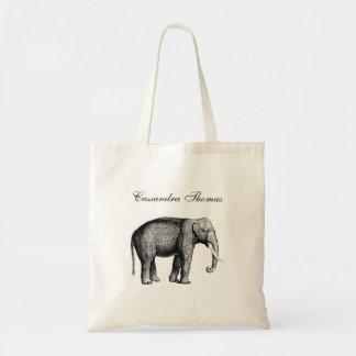 Sac Dessin vintage d'éléphant